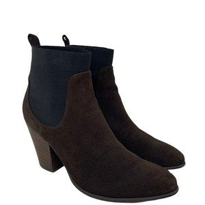 Victoria's Secret Brown Suede Chelsea Western Style Boots US Size 9